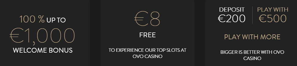 OVO Casino UK Bonus