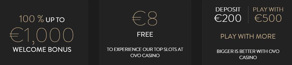 OVO Casino UK Bonus