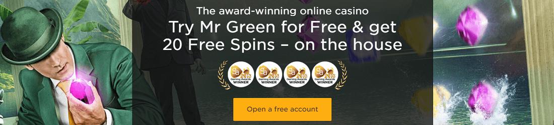 Mr Green 20 Free Spins Bonus