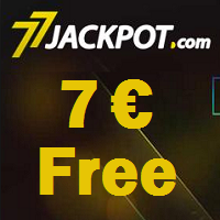7€ for free at 77Jackpot Casino